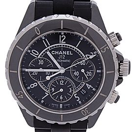 Chanel J12 Black Ceramic Chronograph Black Dial Automatic 38mm Women's Watch