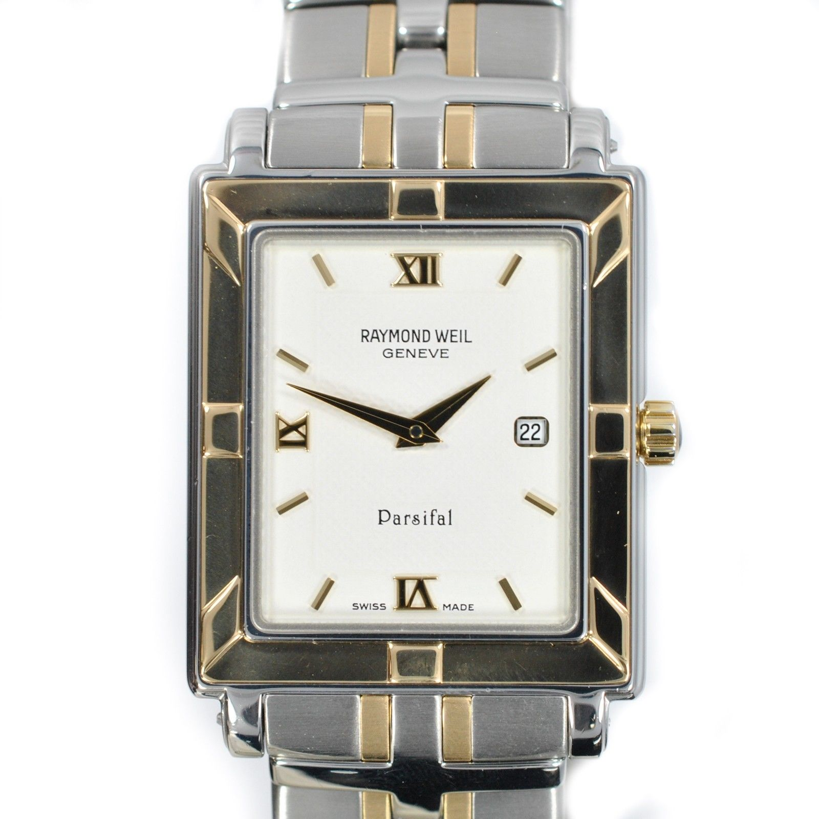 "Image of ""Raymond Weil Parsifal 9330 Two-Tone Stainless Steel White Dial Quartz"""