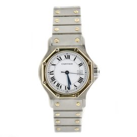 Cartier Santos Octagon Stainless Steel Retro 18K Automatic Unisex Watch