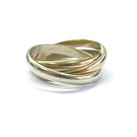 Cartier 18K Multi Tone Gold Trinity Ring