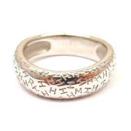 Hermes 18K White Gold H Graffiti Ring