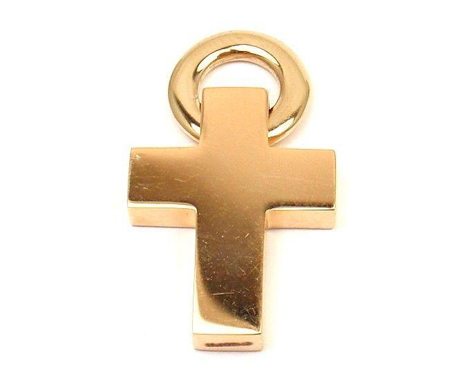 "Image of ""Pomellato 18K Rose Yellow Gold Cross Pendant"""