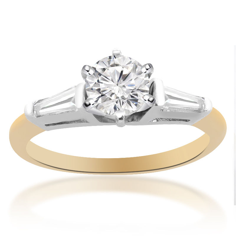 "Image of ""14K Two Tone Gold Round Brilliant Cut Diamond Ring"""