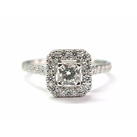 Hearts On Fire 18K White Gold Princess Cut Diamond Ring