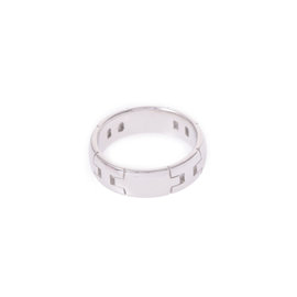 Hermes 18K White Gold Hercules Ring Size 4.75