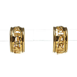 Chanel Gold Tone Hammered Clip On Earrings