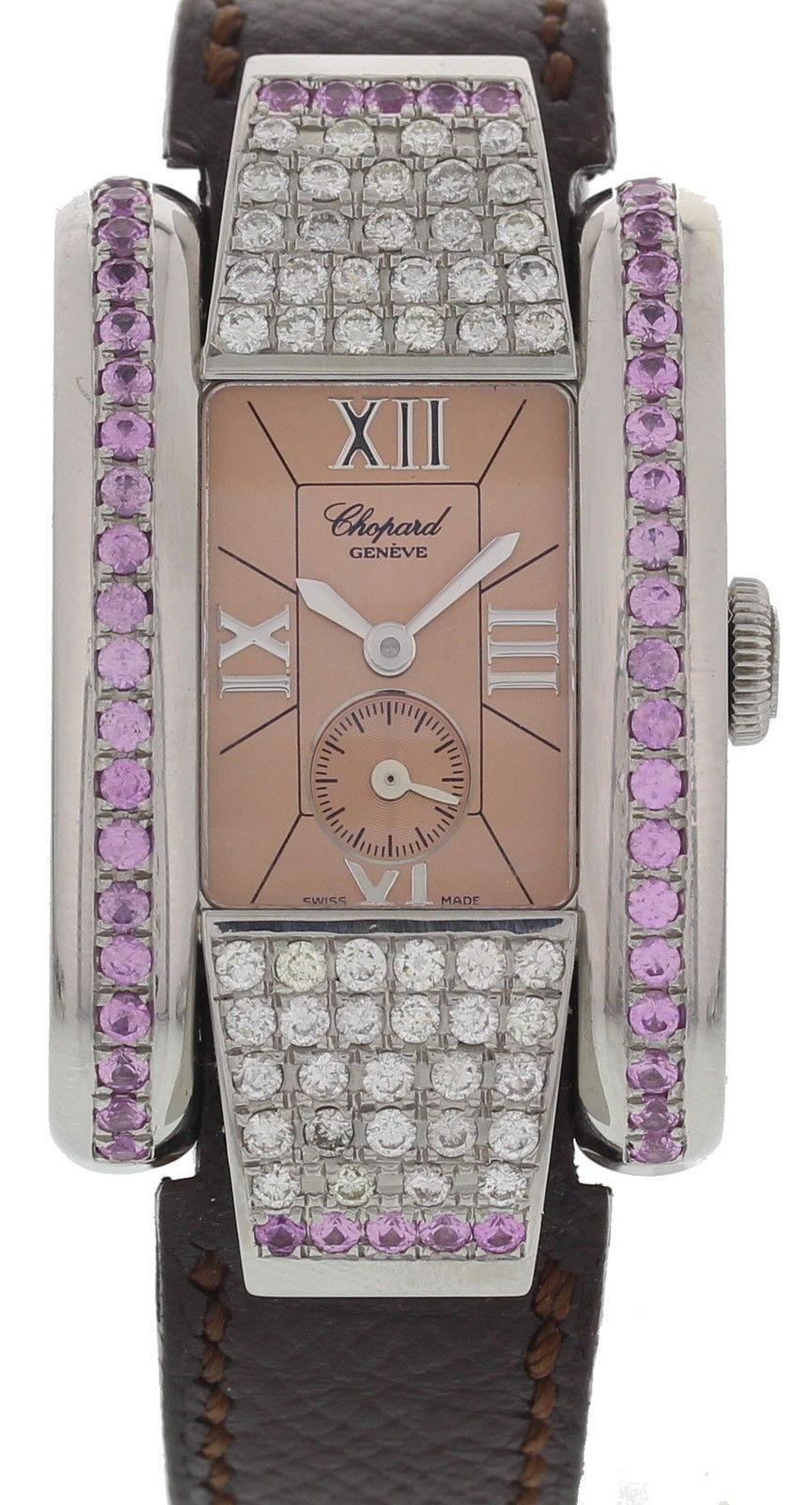 "Image of ""Chopard 8357 La Strada Stainless Steel & Custom Diamonds Womens Watch"""