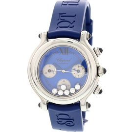 Chopard 8323 Happy Sport Chronograph Stainless Steel Diamond Womens Watch