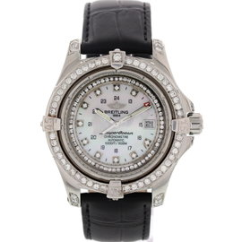 Breitling SuperOcean A17390 Steelfish Automatic Chronometer Diamonds Mens Watch