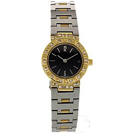 Bulgari 18K Gold & Stainless Steel Diamonds Womens Watch