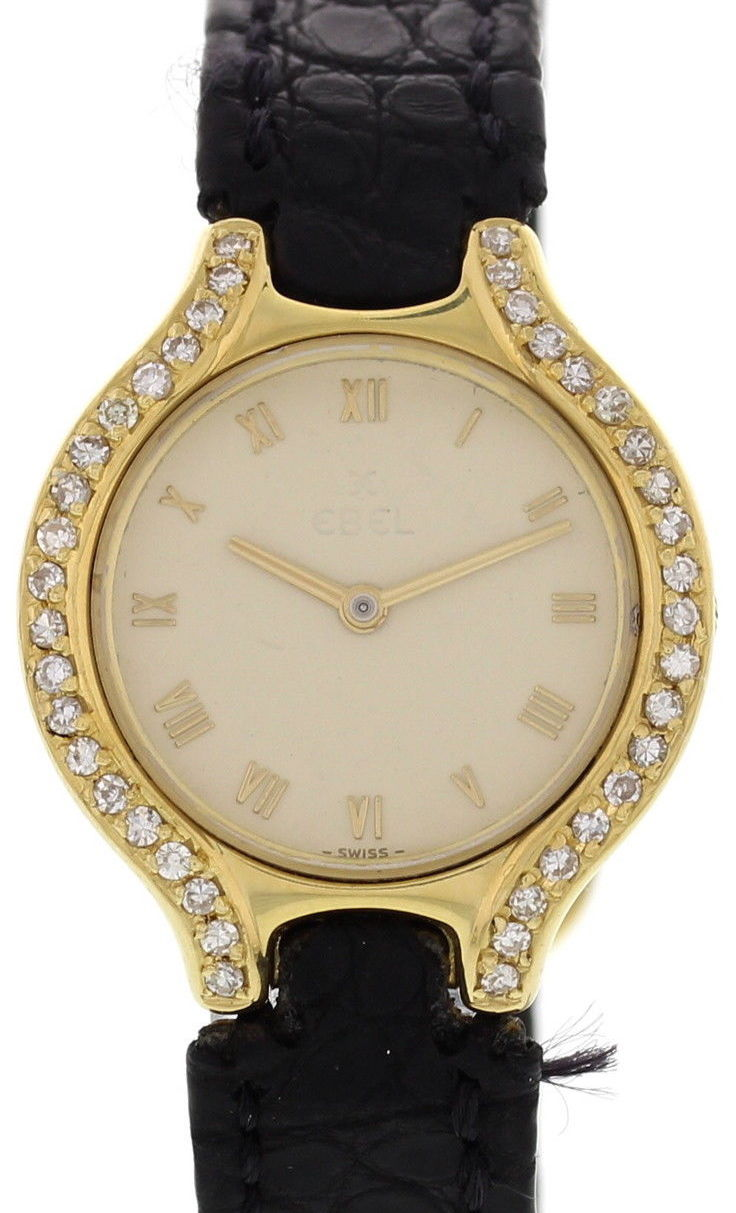 "Image of ""Ebel 18k Yellow Gold w/ Diamonds Womens Watch"""