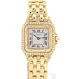 Cartier Panthere 18K Yellow Gold & Diamonds Womens Watch