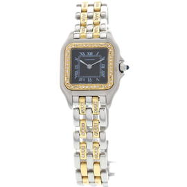 Cartier Panthere 18K Yellow Gold Stainless Steel Womens Watch