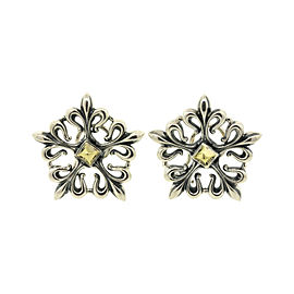 Lagos Sterling Silver & 18K Gold Stud Earrings