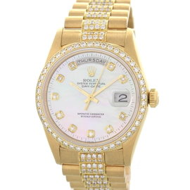 Rolex Daydate President 118238 18K Yellow Gold & Diamonds Mens Watch