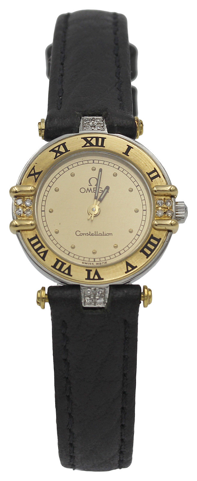 """Image of """"Omega Constellation 18K Yellow Gold & Stainless Steel Diamonds Womens"""""""
