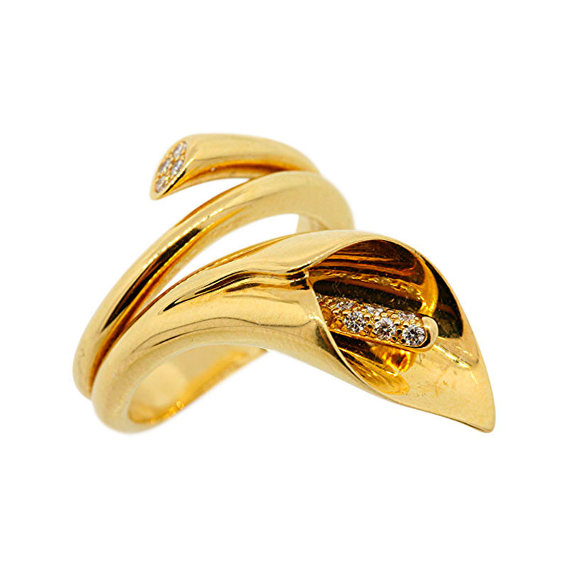 "Image of ""Asprey 18K Yellow Gold & Diamond Ring"""