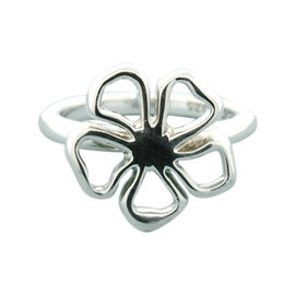 Tiffany & Co. Sterling Silver 925 Open Flower Lily Ring Size 5.5