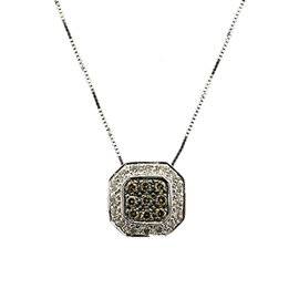 Levian 14K White Gold Chocolate Diamond Pendant Necklace