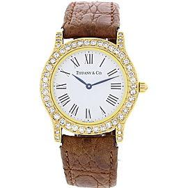 Tiffany & Co. Portofino 18K Yellow Gold Diamond Womens Watch