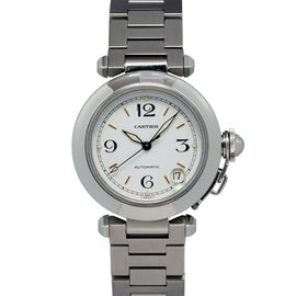 Cartier Pasha 2324 White Dial Stainless Steel Automatic Date 35mm Unisex Watch