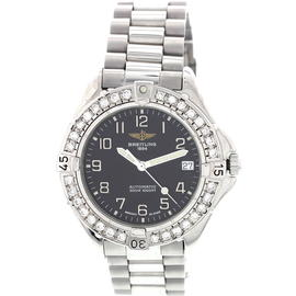 Breitling Colt 1884 A17035 Automatic Stainless Steel & Diamonds Men's Watch