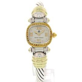 David Yurman Sterling Silver & 14K Yellow Gold w/ Diamonds Womens Watch