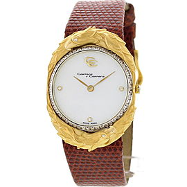 Carrera y Carrera Eagles 18K Yellow Gold Diamond Womens Watch