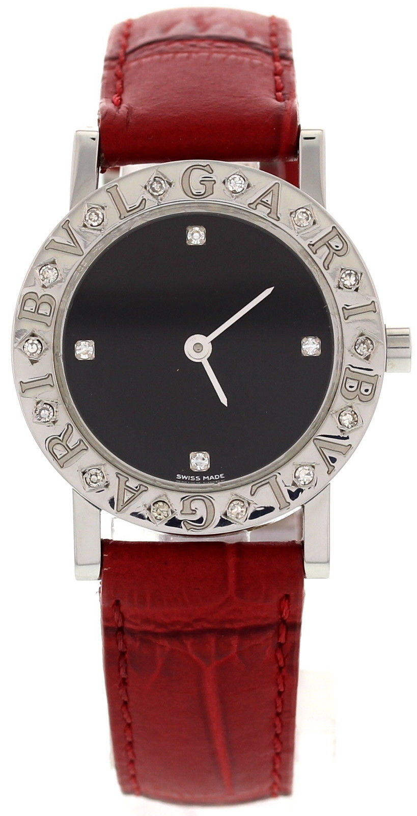 "Image of ""Bulgari Stainless Steel BB 26 Sld Diamonds Watch"""