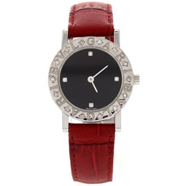 Bulgari Stainless Steel BB 26 Sld Diamonds Watch