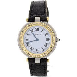Cartier Santos Stainless Steel & 18K Yellow Gold Diamond Bezel Unisex Watch