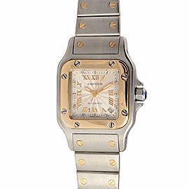 Cartier Santos 2423 18K Gold & Stainless Steel Automatic Womens Watch