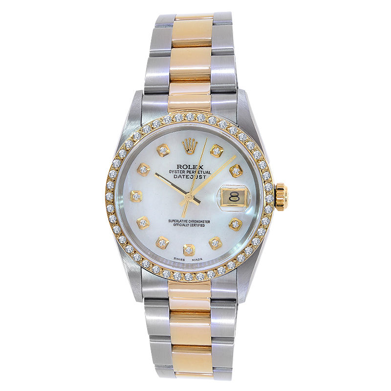 "Image of ""Rolex Datejust Turn-O-Graph 16263 18K Gold & Stainless Steel 36mm Mens"""