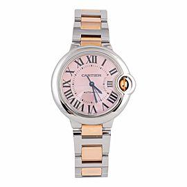 Cartier Ballon Bleu W6920070 3489 Stainless Steel & 18K Rose Gold 33mm Watch