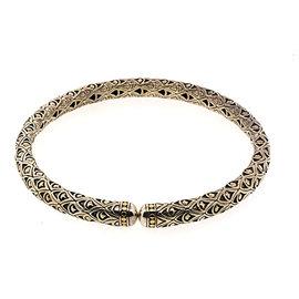 John Hardy Sterling Silver & 18K Yellow Gold Naga Collar Choker Necklace