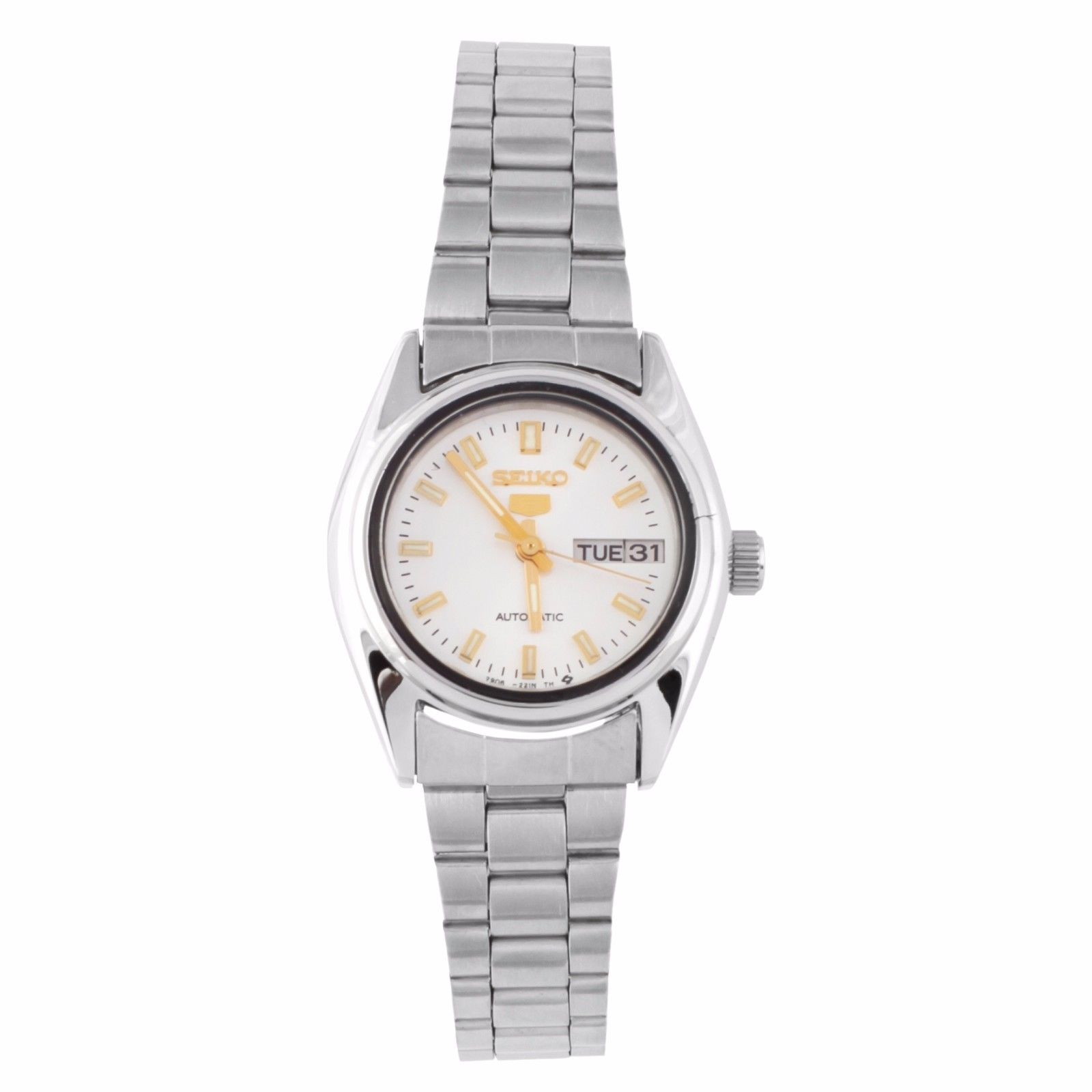 "Image of ""Seiko 5 2906-0850 Stainless Steel Silver Dial Automatic Womens Watch"""