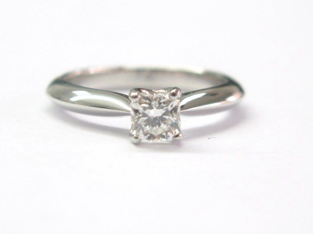 "Image of ""Hearts On Fire 18K White Gold & 0.55ct Diamond Solitaire Engagement"""