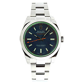 Rolex Milgauss 116400 Blue Dial Stainless Steel Smooth Bezel Mens Watch