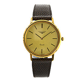 Longines 21586 Gold Toned Stainless Steel Vintage 35mm Men Watch