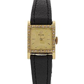 Rolex Precision 8320 18K Yellow Gold & Diamond Vintage Womens Watch