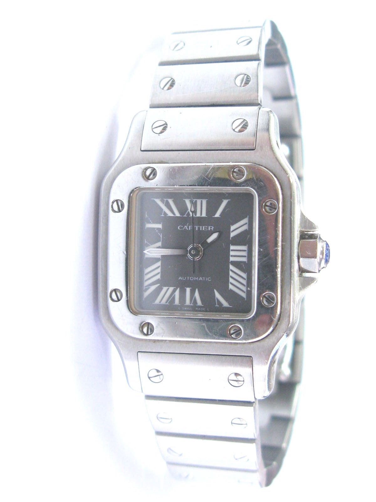 """Image of """"Cartier Santos 2423 Stainless Steel 24mm Watch"""""""
