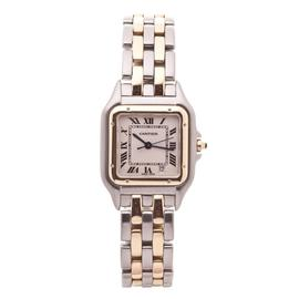Cartier Panthere Two Row 18K Yellow Gold And Stainless Steel Quartz Womens Watch