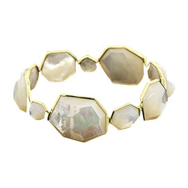 Ippolita 18K Yellow Gold Rock Candy Full Mother of Pearl Bangle Bracelet