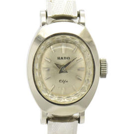 Rado Elfe 14K White Gold Stainless Steel With Silver Dial 16.5mm Womens Watch