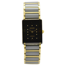 Rado Dia Star Ceramic & Gold Plated 18mm Womens Watch