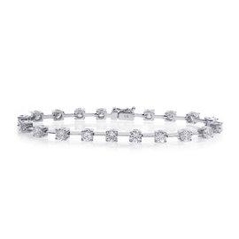 14K White Gold & 6.50ct Diamond Tennis Bracelet
