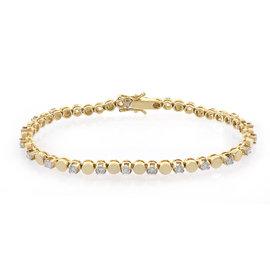 14K Yellow Gold & 1.50ct Diamond Tennis Bracelet