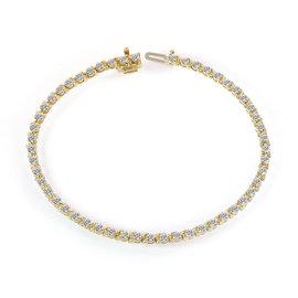 14K Yellow Gold & 2.00ct Diamond Tennis Bracelet