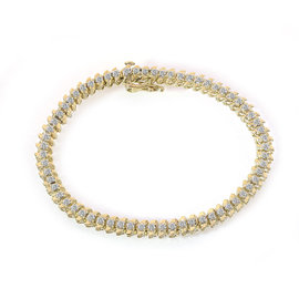 10K Yellow Gold & 2.00ct Diamond Tennis Bracelet