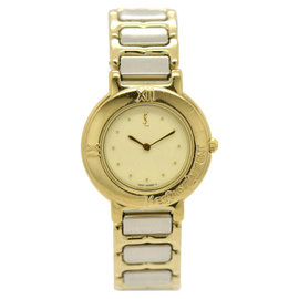 Yves Saint Laurent 2200-229789Y Stainless Steel & Gold Plated 24mm Womens Watch